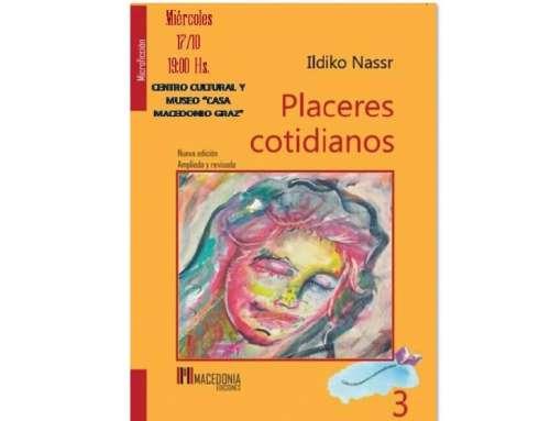 """Ildiko Nassr presenta su libro """"Placeres cotidianos"""""""