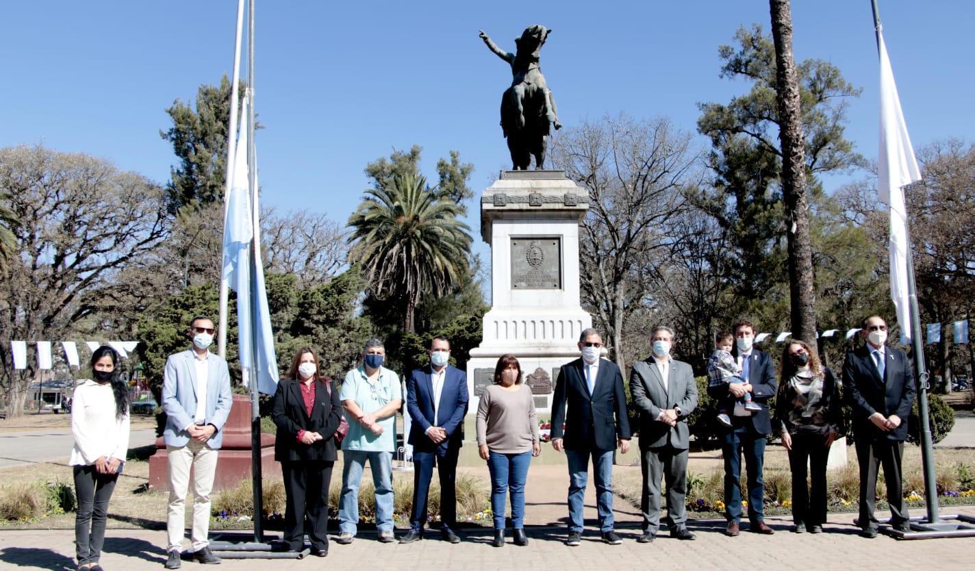 El intendente en el acto homenaje a San Martín